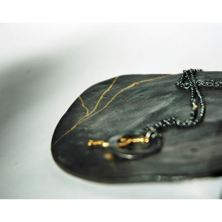 Talerzyk pod biżuterię Złota Nić czarny